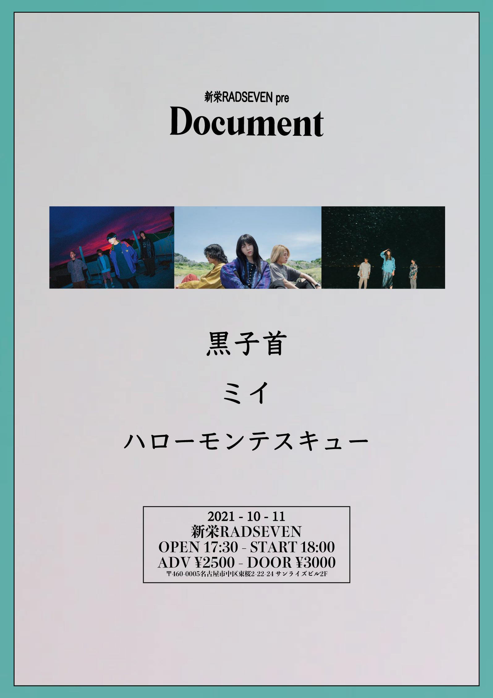 RADSEVEN pre.「Document」