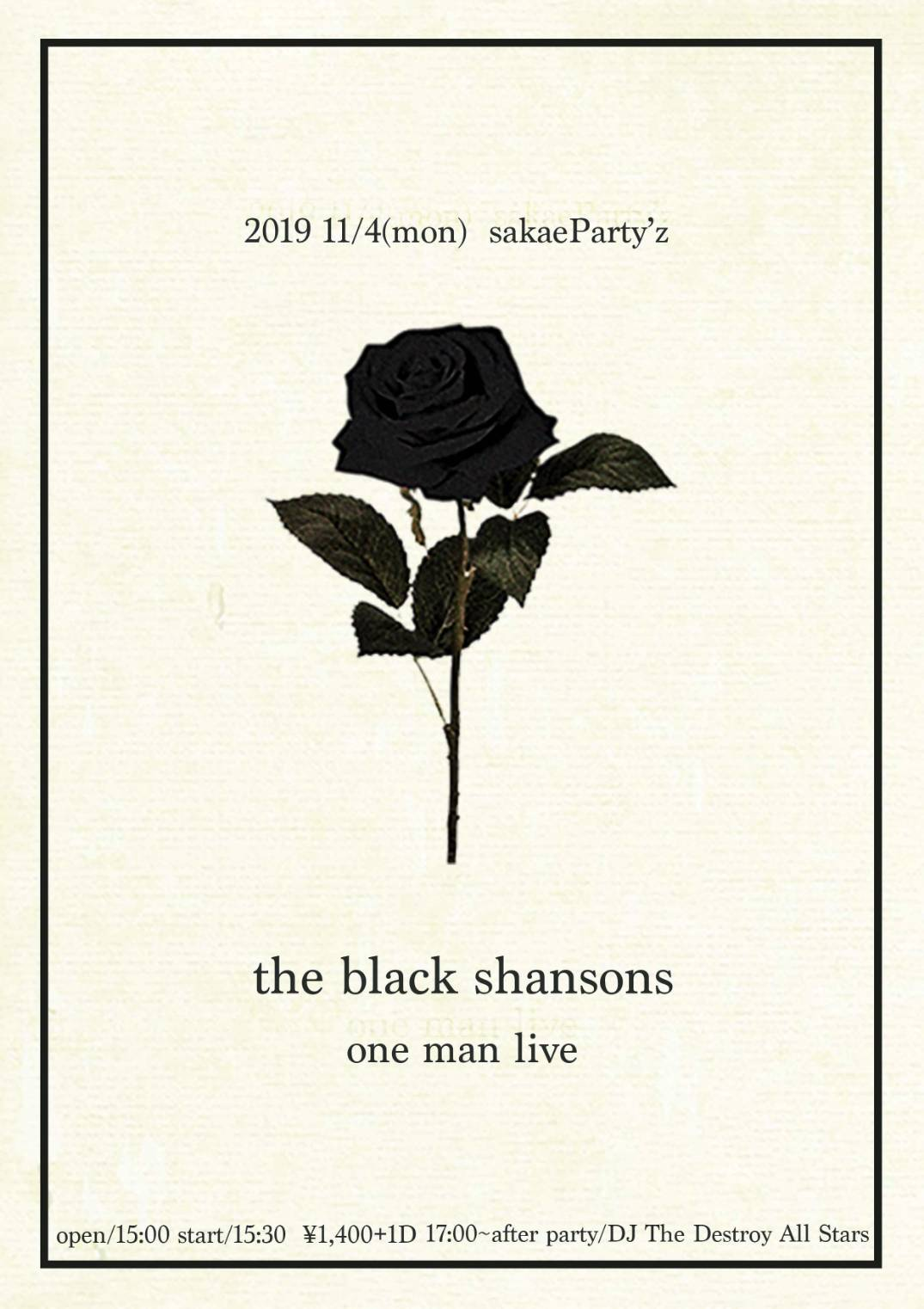 the black shansons -one man live-