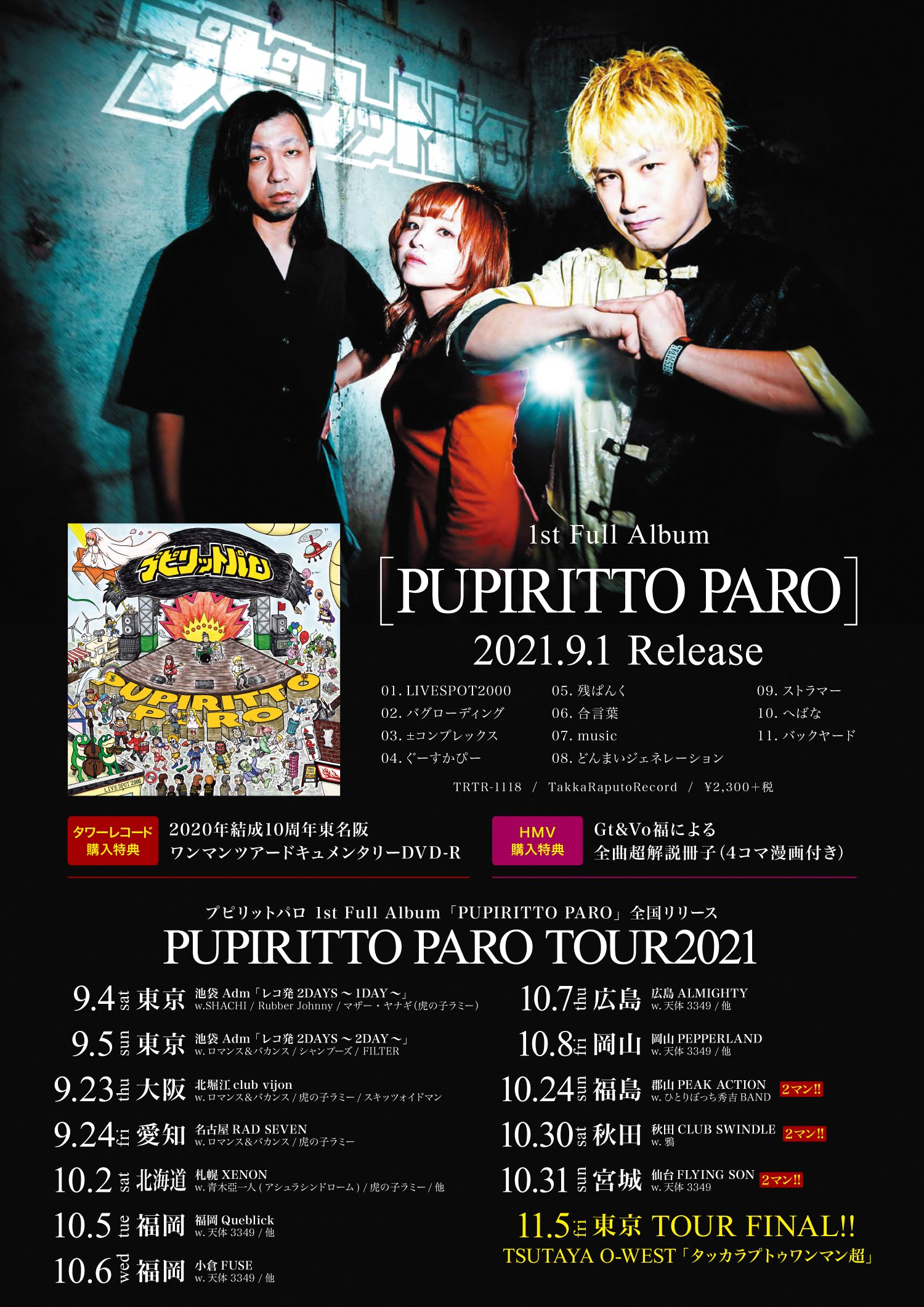PUPIRITTO PARO TOUR 2021