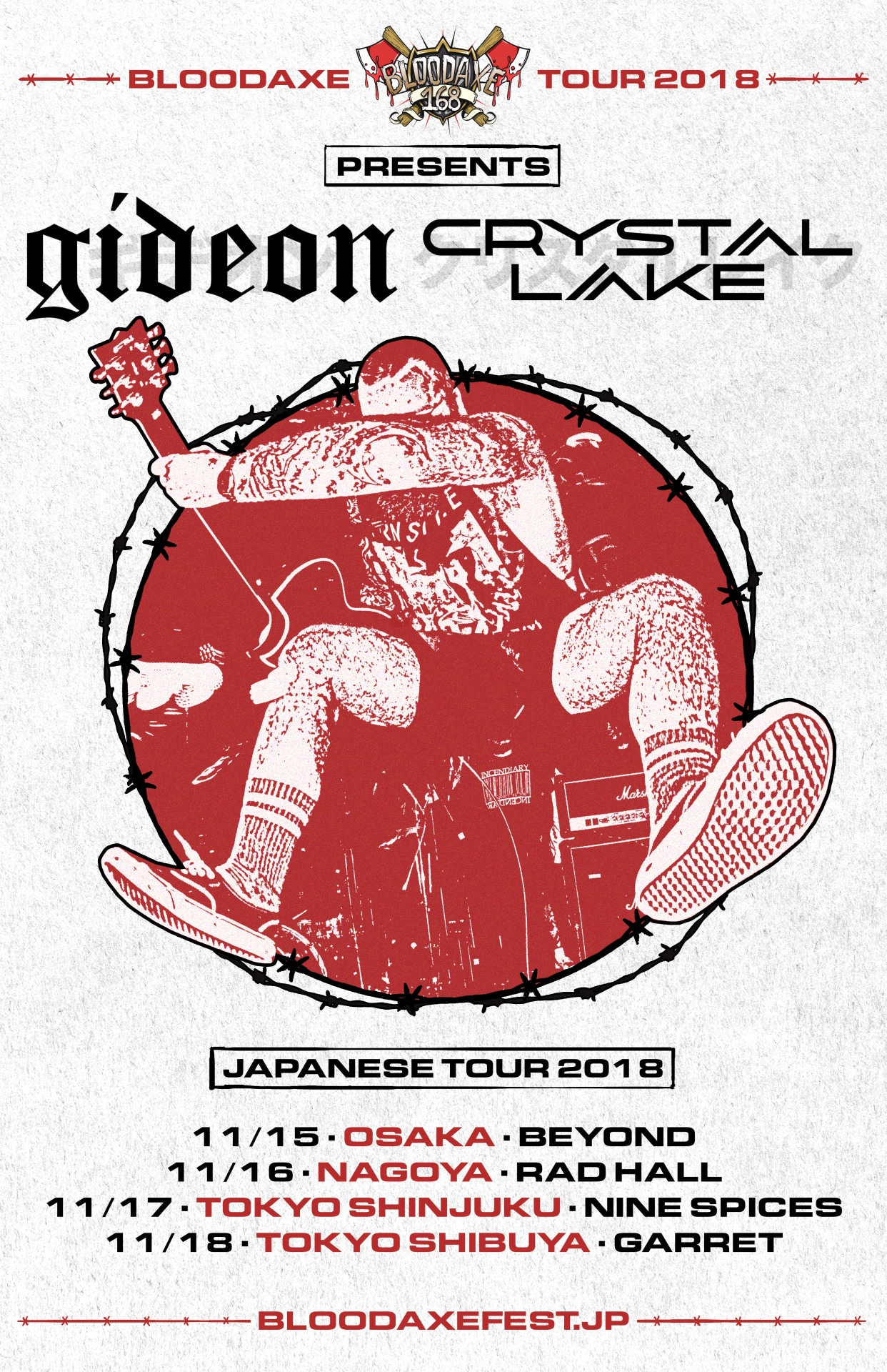 BLOODAXE TOUR2018【GIDEON / Crystal Lake JAPAN TOUR 2018】