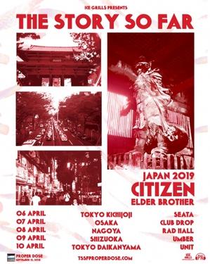 THE STORY SO FAR / CITIZEN / ELDER BROTHER Japan Tour 2019
